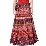 Magic Skirt Halter Tube Dress Ethnic Style Cotton Wrap Around Skirt Maroon Color Free Size Skirt 36 Length Skirt D3