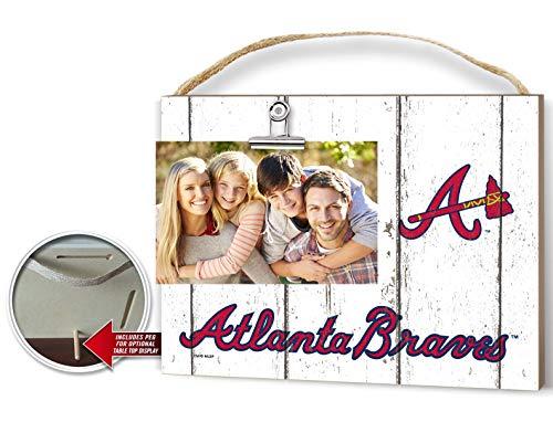 KH Sports Fan Clip It Weathered Logo Photo Frame (Clip It Weathered Logo Photo Frame Atlanta Braves)