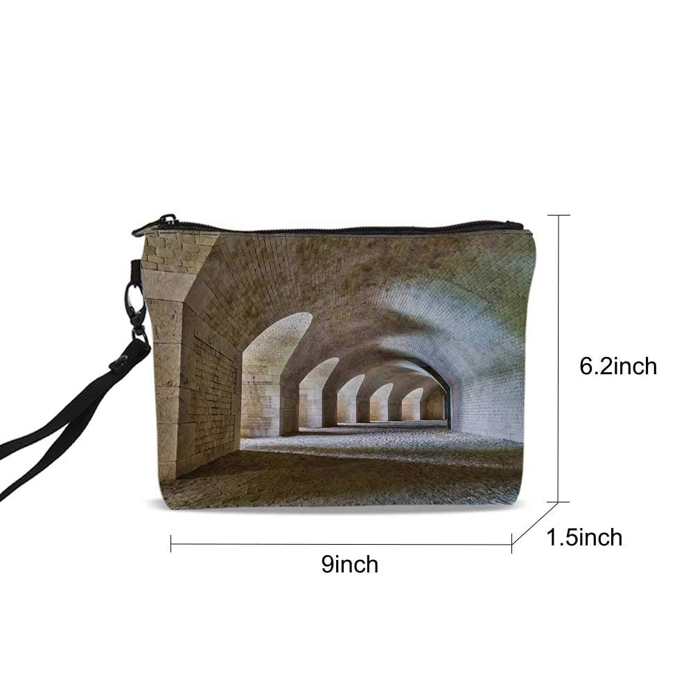 bcf1cf9963da Amazon.com : Medieval Female Cosmetic Bag, Castle Tunnel Interior ...