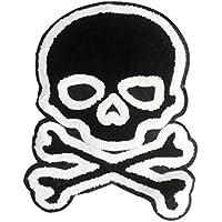 XXL Extra Large Chenille Black Skull Shirt Back Patch 30cm 100% Chenille - Custom Patches - Children's - Girly - Patches - Hi Tops - Basketball - Skater - DJ - Skateboard - Hip Hop - Biker