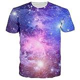 T Shirt Men Space Galaxy 3D T Shirt Cotton Clothing Casual Tops Hip Hop T-Shirt