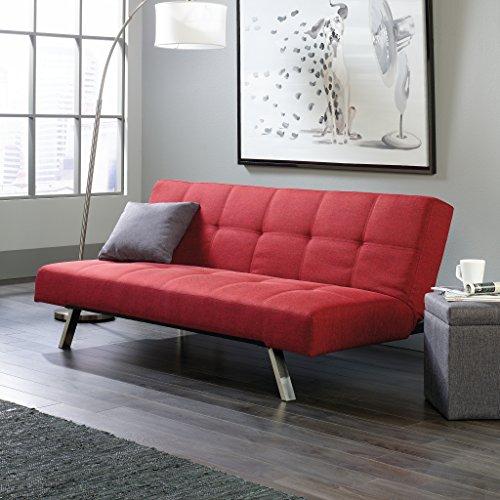 Sauder Cooper Straight Sofacon, Scarlet Red