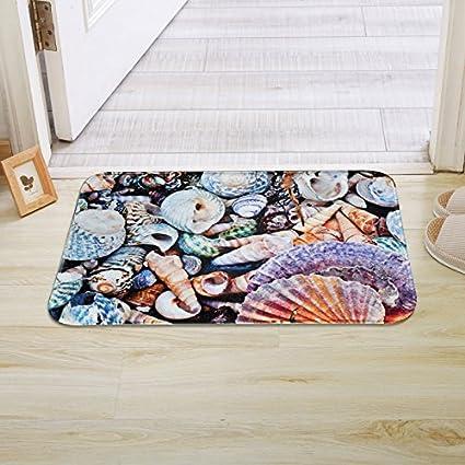 PEIWENIN-Colchones de baño pies Grandes Puerta de Piedra alfombras de Deslizamiento alfombras Puerta cerramientos