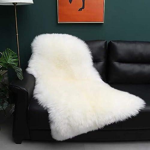 Gracefur Natural Sheepskin Area Rug Soft Fluffy Decor Rug