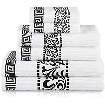 Amazoncom Blue Nile Mills Decorative Athens 6 Piece Cotton Bath