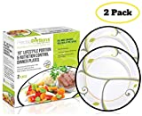 Portion Control Plates Kit from Precise Portions - Lunch & Dinner - Meal Plan Eating Guide to Eat the Right Amount of Food - Kids & Adults - 2 Dishes - Healthy Lifestyle Dinnerware - Weight Loss Tool