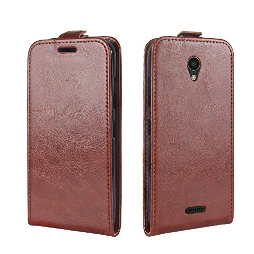 OFU® Para Lenovo B Funda,PU Hybrid Card Carry Pocket Wallet Slot,Cartera Cuero Funda de Piel Wallet Case para Lenovo B Carcasa Flip Case Cover(negro) marrón