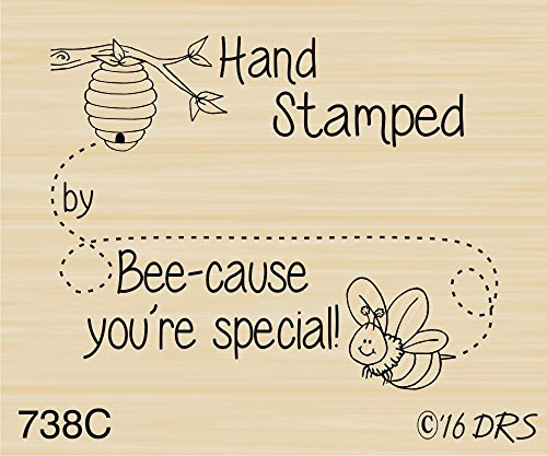 (Bumble Bee Recognition Rubber Stamp by DRS Designs Rubber Stamps)
