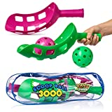 YoYa Toys Scoop Ball Game Scoop Toss Set | Scoop Ball Toy for Kids & Adults | Jai Alai Thrower with 2 Balls | PVC Carry Bag | Toss & Catch Outdoor Game Set | Refund Guaranty