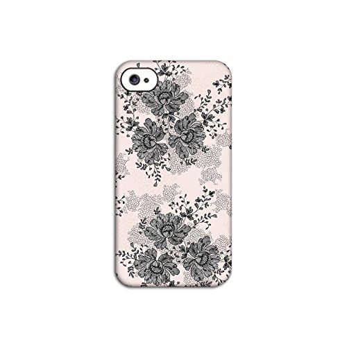 Flower Lace Pink Deflector Back Case for Apple iPhone 4 4S