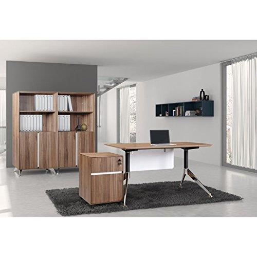 Unique Furniture 330-WAL Two Drawer Mobile Pedestal File, Walnut by Unique Furniture