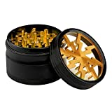 Lightning Grinder with Sifter and Magic Top, Fancyli Premium Aluminum 4 Pieces 2.48' Tobacco Grinder Herb Grinder with a Cleaning Brush