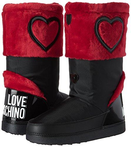 Nieve De ne Love ttod ver Para rsso red Nyl St yuky20 Moschino black Botas pell Mujer Multicolor rPFqYPwvn