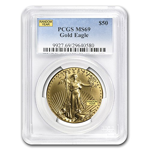 1986 – Present 1 oz Gold American Eagle MS-69 PCGS (Random Year) 1 OZ MS-69 PCGS