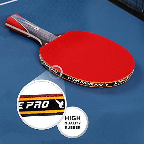 Professional Pingpong Racket Sportout Sriver-He Rubber Table Tennis Paddle