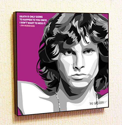 Portrait Jim Morrison (Jim Morrison Rock Singer Music Artist Actor Decor Motivational Quotes Wall Decals Pop Art Gifts Portrait Framed Famous Paintings on Acrylic Canvas Poster Prints Artwork (10x10
