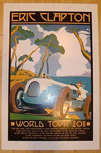2011 Eric Clapton - World Tour Silkscreen Poster by Firehouse