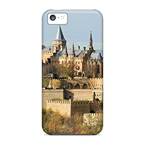 Premium Tpu Wonderful Castle On A Mountain Cover Skin For Iphone 5c