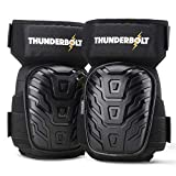 Knee Pads for Work by Thunderbolt with Heavy Duty Foam Cushioning and Gel Cushion...