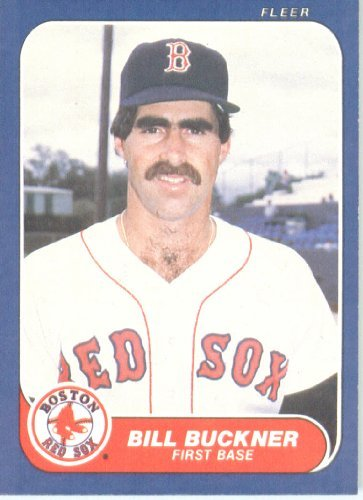 1986 Fleer 343 Bill Buckner Boston Red Sox Baseball Card