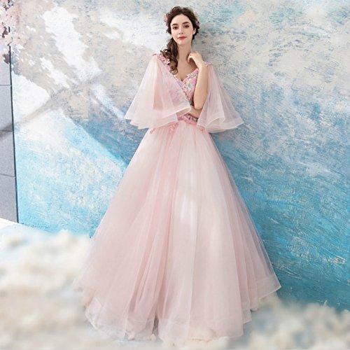 Banquet nbsp;Robe 14 Goddess Manches De De Doux Rose Robes Dentelle Soirée Appliques 12 Soirée Élégante Papillon Le Robe De Sun C0q5w
