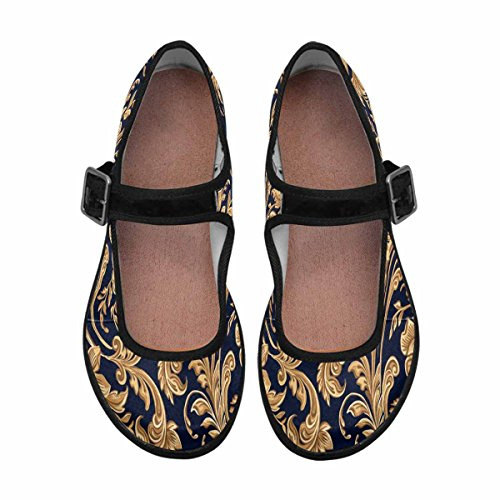 InterestPrint Womens Comfort Mary Jane Flats Casual Walking Shoes Multi 5 cUWymcKj