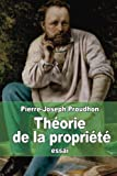img - for Th orie de la propri t  (French Edition) book / textbook / text book
