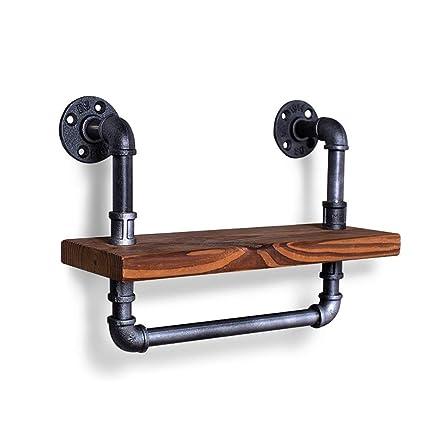 FuweiEncore Estante de láminas de Hierro Loft Estanterías de Estilo Industrial Apliques de Pared Decorativas de