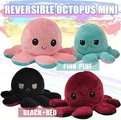 Familiares Lindo Pulpo Reversible Peluches Pulpo Reversible Peluches Mu/ñeca ni/ños Amigos ADJU Mu/ñeca Flip Octopus de Doble Cara