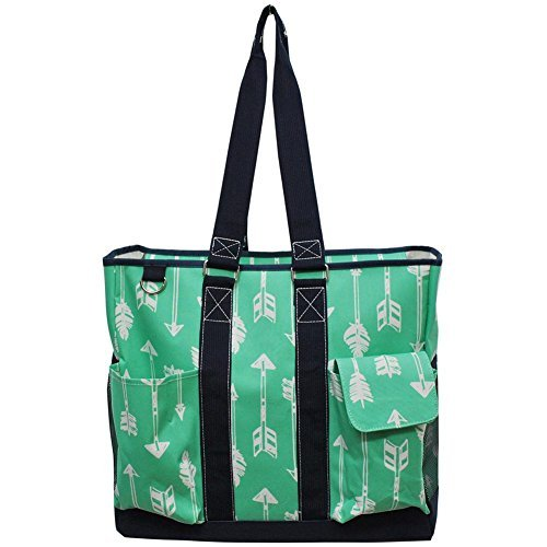 NGIL All Purpose Organizer X- Large Tote Bag Spring 2018 Collection (Arrow Mint Green) by NGIL