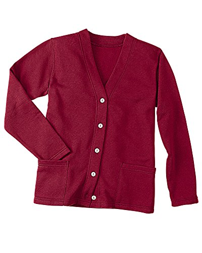 Fleece Button (National Fleece Cardigan, Cranberry, 1X)