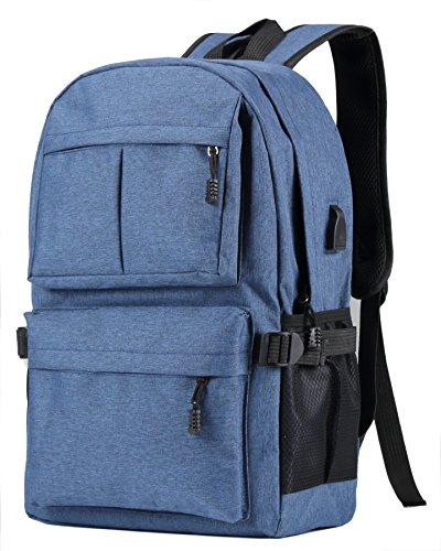 HOENYJOY Unisex Men Women Light Weight Business Laptop Backpack 15.6 Inch College Backpack with USB Charging Port (32cm13cm46cm, - College To Shop Station Places In