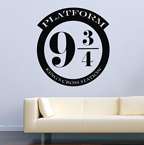 USA Decals4You | Harry Potter Wall Decals Platform 9 3/4 Kings Cross Decor Stickers Vinyl MK0562