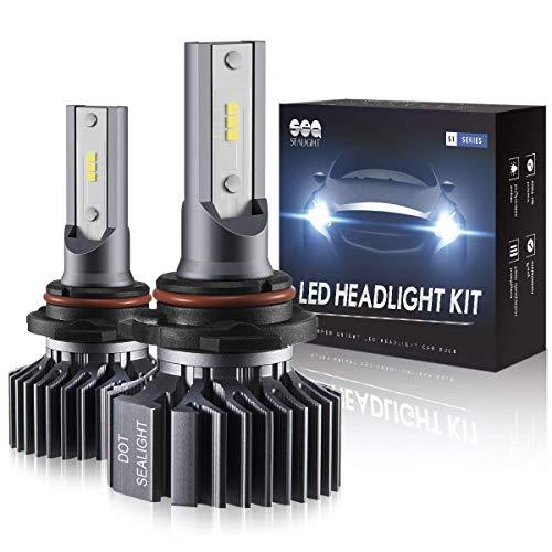 9006/HB4 LED Headlight Bulbs Conversion Kit, SEALIGHT S1 Series Low Beam/Fog light bulb 12xCSP Chips - 6000LM 6000K Xenon White