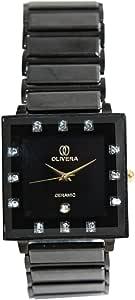 ساعة يد نسائية من اوليفيرا، مربعة الشكل، اسود، OGC0002