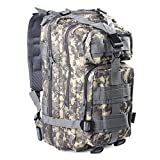 Tactical Camo Backpack 40L Outdoor Military Assault Molle Swordfish Rucksack Waterproof Nylon for Men and Women Camping Hiking Trekking (ACU)