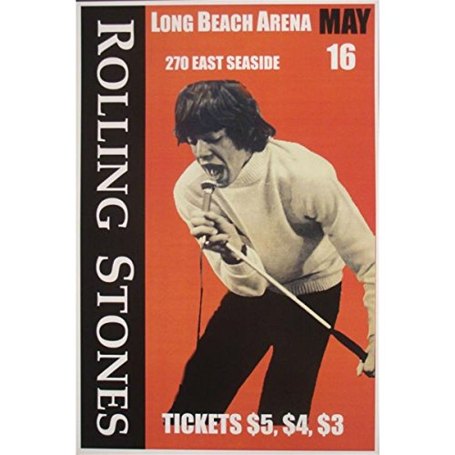 Rolling Stones Concert Poster 1965 Poster rock and roll bands 12 X 19