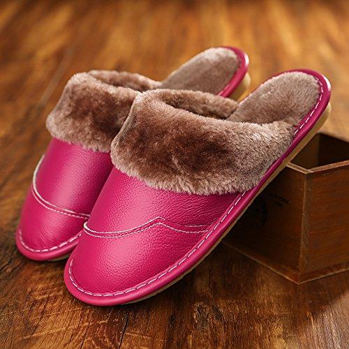 nervure en couple d'hommes chaussures 39 la restent coton hiver cuir cuir 27 une lame femmes hommes de et et en Chaussons et les n coton épais Rouge Croix fond la Chaussons de de femmes en les 38 qtx8HtEw