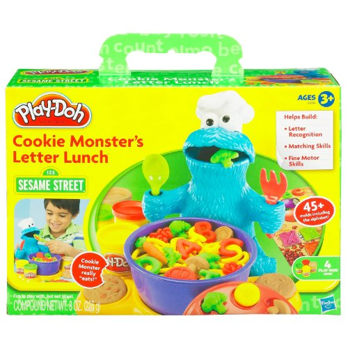 (Play-Doh Cookie Monster Letter Lunch)