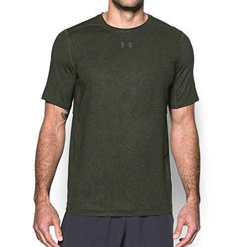 Under Armour Men's HeatGear CoolSwitch 2C Short Sleeve, Downtown Green/Graphite, Small