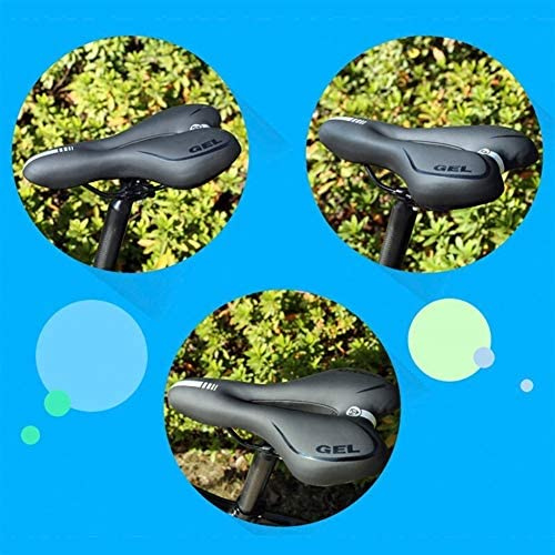 schwarz rot LIOOBO 1 st/ück fr/ühling hochelastischen fahrradsattel sto/ßd/ämpfung Kissen komfortable fahrradsitz f/ür Mann Frau m/ännlich