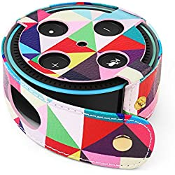 TNP Protective Case for Amazon Echo Dot (Fits all-new Echo Dot 2nd Generation Only) - Premium Vegan Leather Cover Sleeve Skin (Colorful)