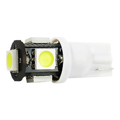 Genssi 194 168 5-SMD ámbar coche luces LED de alta potencia Bombilla (Pack