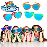 Toy Cubby Adorable Photobooth Blue Lens Oversized Plastic Sunglasses Set of 6!