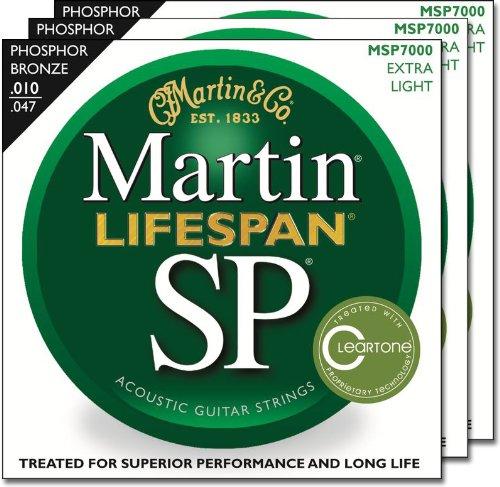 3 Packs of Martin MSP7000 Lifespan SP Extra Light Acousti...