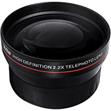 BiG DIGITAL 2.2X Telephoto Conversion Lens for Nikon 3000, D3100, D3200, D3300, D5000, D5100, D5200, D5300, D7000, D7100, DF, D3, D3S, D3X, D4, D40, D40x, D50, D60, D70, D70s, D80, D90, D100, D200, D300, D600, D610, D700, D750, D800, D800E, D810 .