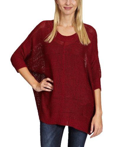 Only - Jersey de punto para mujer Rojo (Rhubarb)