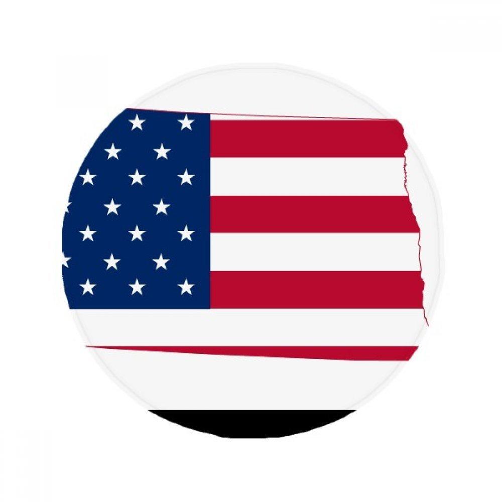 60X60cm DIYthinker North Dakota USA Map Stars Stripes Flag Shape Anti-Slip Floor Pet Mat Round Bathroom Living Room Kitchen Door 60 50Cm Gift