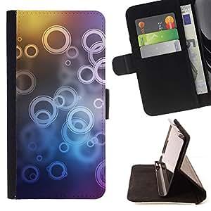 For Samsung Galaxy S6 EDGE (NOT S6) Plus / S6 Edge+ G928 Case , Círculos- la tarjeta de Crédito Slots PU Funda de cuero Monedero caso cubierta de piel