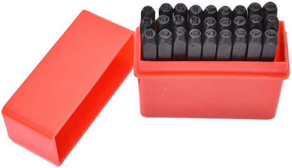 5mm Chiloskit Number /& Letters Stamp Punch Set Letter and Number Metal Stamping Kit Metal Stamping Tools Carbon Steel Uppercase Alphabet A to Z and Number 0 to 9 and Symbol Stamp Punch Set 3//16
